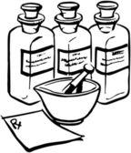 Bottiglie di medicina — Vettoriale Stock