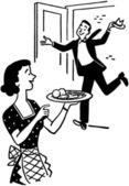 Home For Dinner — Stock Vector