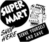 Super Mart — Stock Vector