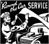 Round The Car Service — Stock Vector