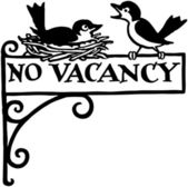 No Vacancy — Stock Vector
