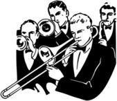 Big Band Horn Section — Stock Vector