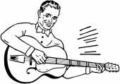 Chitarrista — Vettoriale Stock