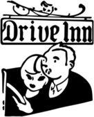 Drive Inn — Stock Vector