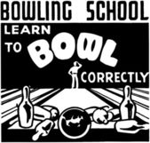 Learn To Bowl — Stock Vector