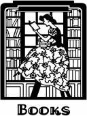 Librarian Motif — Stock Vector