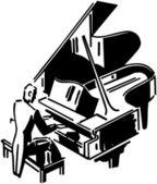Concert Pianist — Stock Vector
