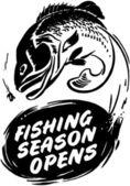 Fishing Season Opens — Stock vektor