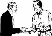 Hearty Handshake — Stock Vector