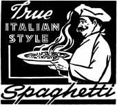 Italian Style Spaghetti — Stock Vector