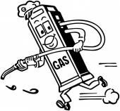 Mister Gas Pump — Stock Vector