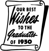 Our Best Wishes To The Grad — Stock Vector
