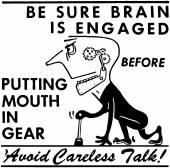 Avoid Careless Talk — Stock Vector