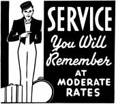 Service You Will Remember — Stock Vector