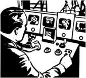 Broadcast Technician — Stock Vector