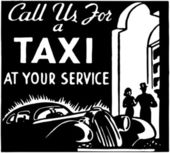 Call Us For A Taxi — Stock Vector