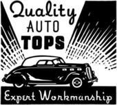 Quality Auto Tops — Stock Vector