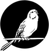 Single Bird — Stock Vector