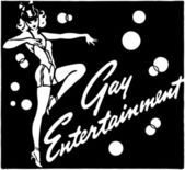 Gay Entertainment — Stock Vector