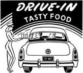 Drive-In Tasty Food — Stock Vector