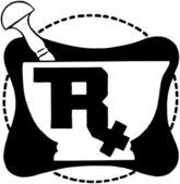 RX Symbol On Mortar — Stock Vector