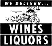 We Deliver Wines Liquors — Stock Vector