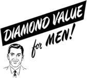 Diamond Value For Men — Stock Vector