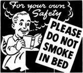 Do Not Smoke In Bed — Stock Vector