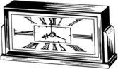 Roman Numeral Alarm Clock — Stok Vektör