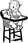 Malheureux bébé — Vecteur