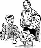 Elegant Dining Couple — Stock Vector