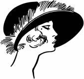 Fashionable Twenties Lady — Stock Vector
