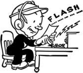 Telgraf operatörü — Stok Vektör
