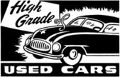 High Grade Used Cars — Vettoriale Stock