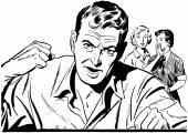 öfkeli adam — Stok Vektör
