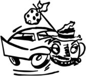 Runaway Car — Stock Vector