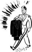 Bellhop With Clean Suit — Stock Vector