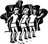 Girl Campers — Stock Vector