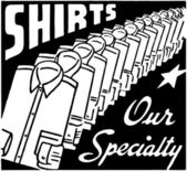 Shirts Our Specialty — Stock Vector