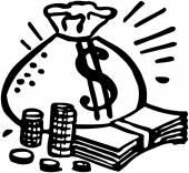 Bag Of Money — Stock Vector