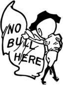 No Bull Here — Stock Vector