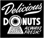 Delicious Donuts — Stock Vector