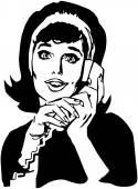 Sostenga el teléfono — Vector de stock