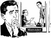 Worried Man illustration — Stock Vector