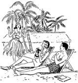Vacation Paradise — Stock Vector