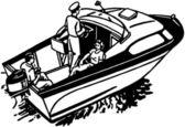 Boating Fun — Stock Vector