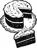 Layer Cake — Stock Vector