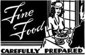 Fine Food 2 — ストックベクタ