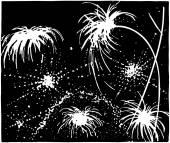 Exploding Fireworks — Stock Vector