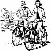 Let's Go Biking — Stock Vector
